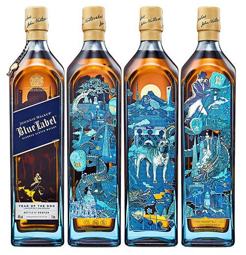 Johnnie Walker, Blue Label, whisky, 2018, limited edition, limitált kollekció, kínai újév, chinese new year, year of the dog, a kutya éve