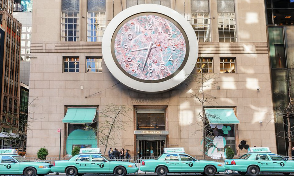 Tiffany, taxi, cab car, Fifth Avenue, New York, Manhattan
