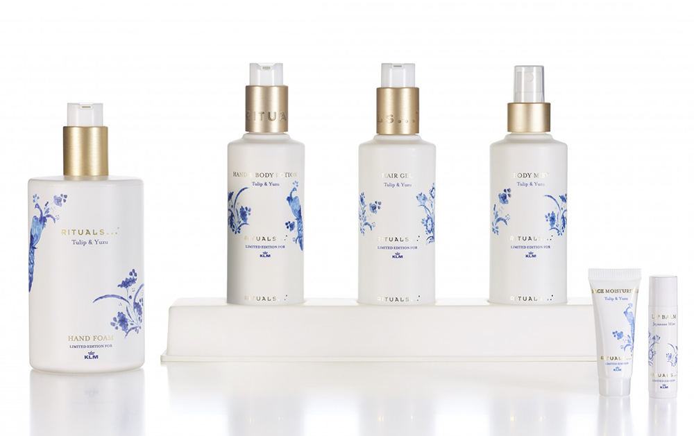 KLM, Rituals, special edition, grooming, beauty