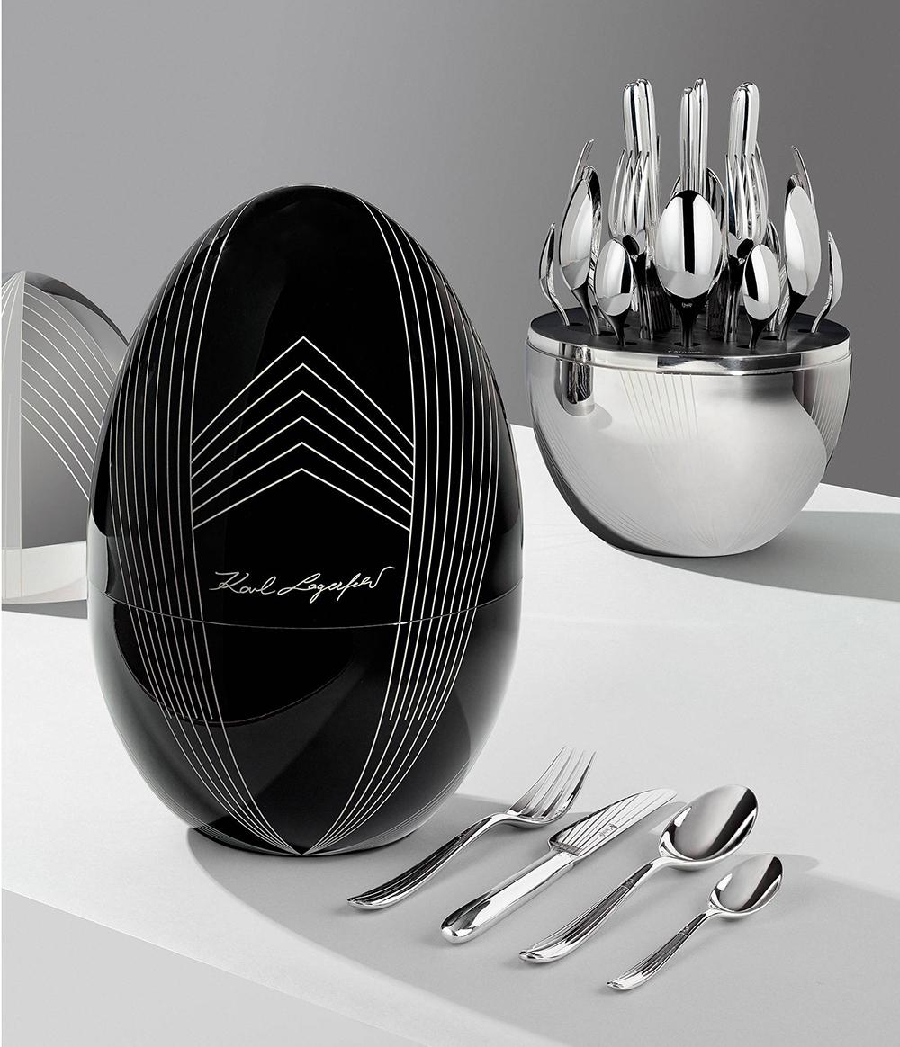 Christofle, Karl Lagerfeld, limited edition, mood, cutlery, étkészlet, limitált kollekció
