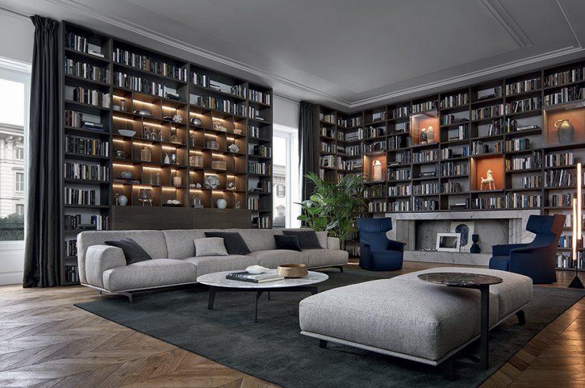 Poliform_wall system_polc_nappali_living room_luxury_sofa_kanapé