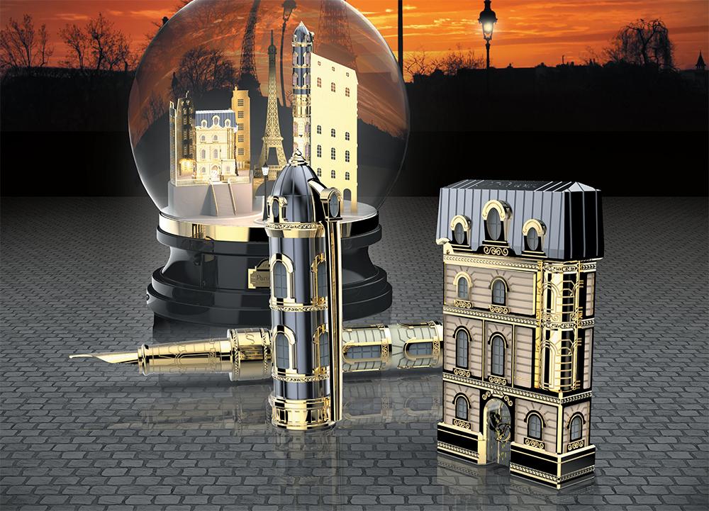 S.T. Dupont_pen_lighter_Paris_Párizs_toll_öngyújtó_limited edition_with love_limitált kollekció_ballpoint_fountain_rollerball_töltő