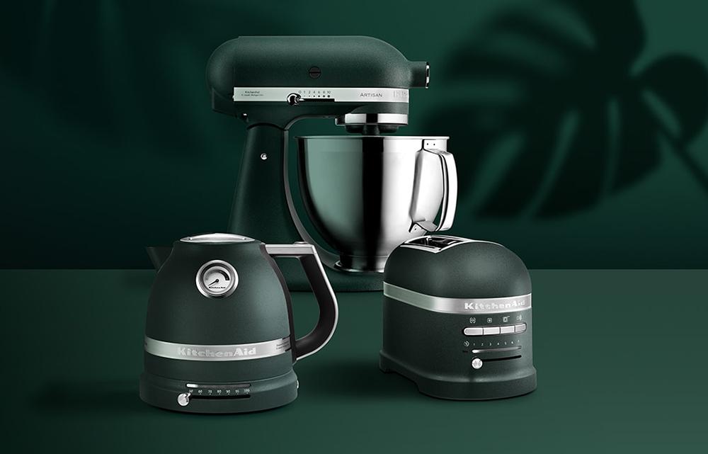 KitchenAid Pebbled Palm konyhai kisgép család, toaster, kettle, kenyérpirító, vízforraló, robotgép