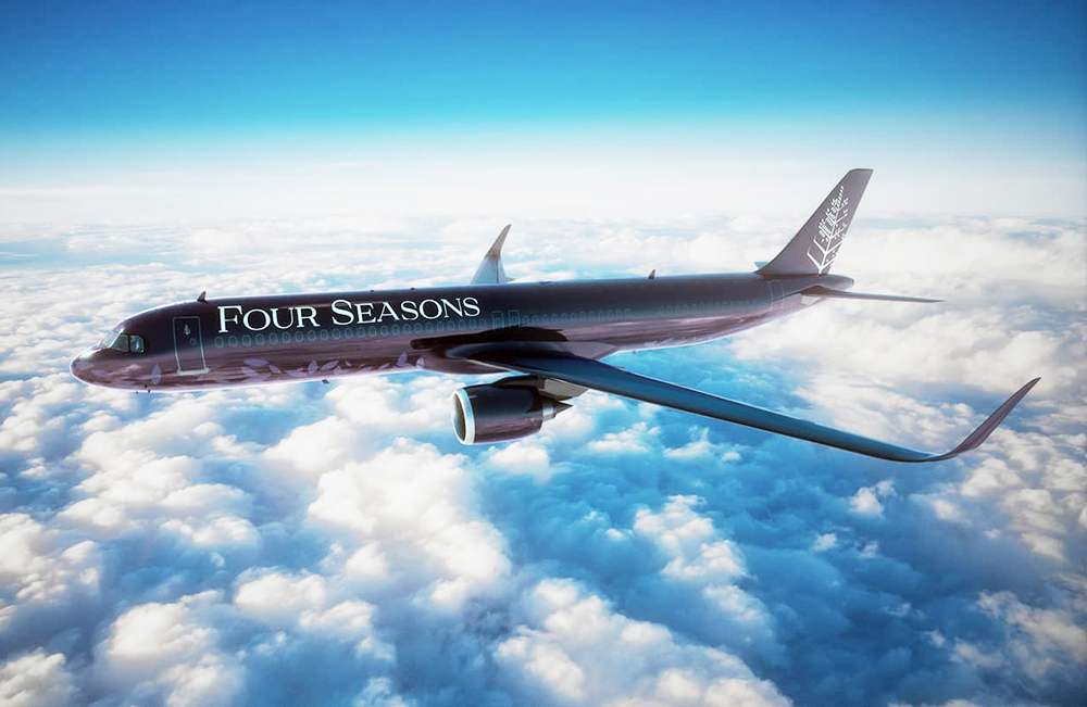 Four Seasons private jet_repülőgép
